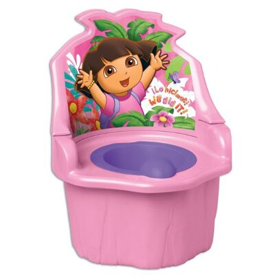 Ginsey Nickelodeon Dora the Explorer Three - In - One Potty Trainer in Pink