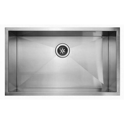 "Fluid 32"" x 19"" Undermount Single Bowl Kitchen Sink"