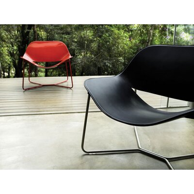 Luxo by Modloft Oakley Leather Lounge Chair
