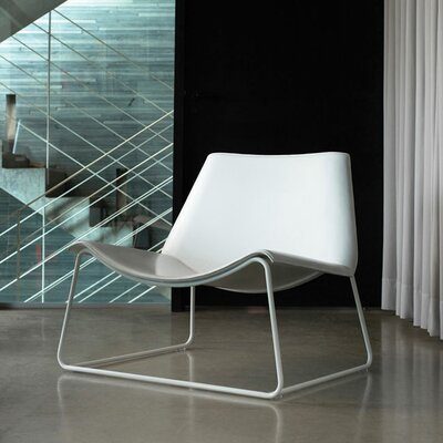 Luxo by Modloft Earl Leather Lounge Chair