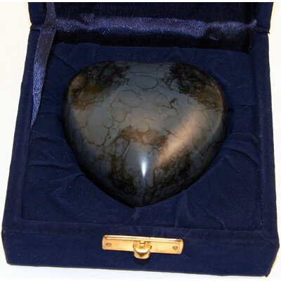 Star Legacy Funeral Network Midnight Supreme Heart Keepsake with Velvet Box
