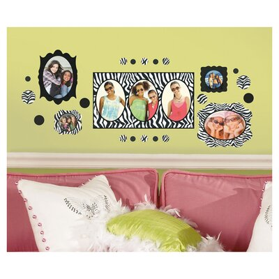Room Mates Zebra Frames Peel and Stick Wall Decals