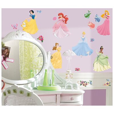 Room Mates 37-Piece Licensed Designs Disney Princess Peel and Stick Wall Decal