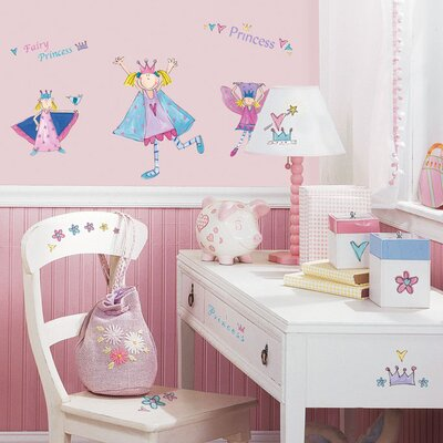 Room Mates Princess Peel and Stick Wall Sticker