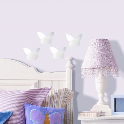 Room Mates 4 Piece Butterfly Small Peel and Stick Mirror Set