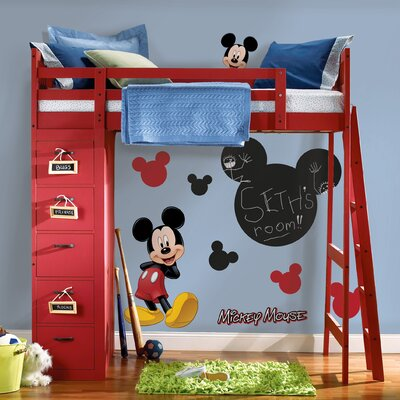 Room Mates Licensed Designs Mickey Chalkboard Peel and Stick Wall Decal