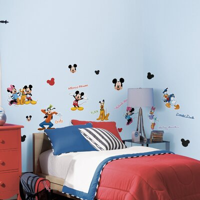 Room Mates Licensed Designs Mickey and Friends Peel and Stick Wall Decal