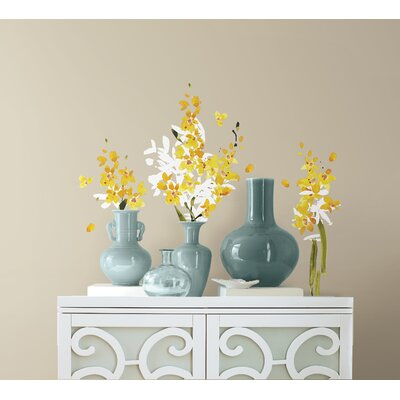 Room Mates 29 Piece Deco Flower Arrangement Peel and Stick Wall Decal Set