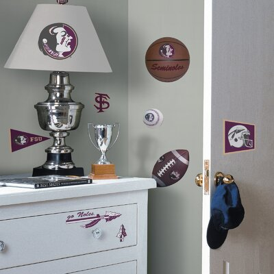 Room Mates Collegiate Sports 29 Piece Appliqué Florida State Seminoles Wall Decal Set