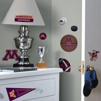 Room Mates Collegiate Sports 24 Piece Appliqué University of Minnesota Wall Decal Set