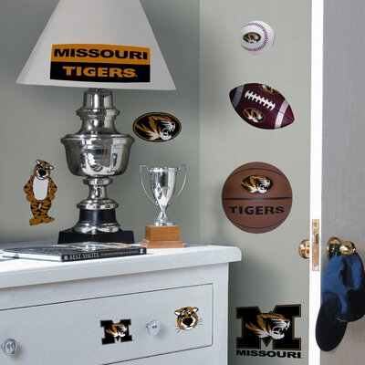 Room Mates Collegiate Sports 24 Piece Appliqué University of Missouri Wall Decal Set
