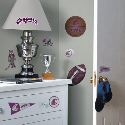 Room Mates Collegiate Sports Appliqué Washington State University Cougars Wall Decal