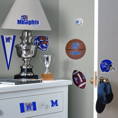 Room Mates Collegiate Sports 23 Piece Appliqué University of Memphis Wall Decal Set