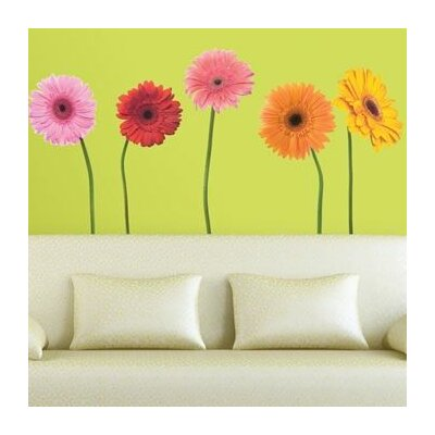 Room Mates Room Mates 25 Piece Deco Gerber Daisies Wall Decal Set