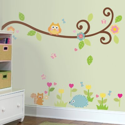 Room Mates Happi Scroll Branch Wall Decal