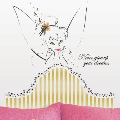 Room Mates Disney Fairies Tinkerbell Headboard Giant Wall Decal