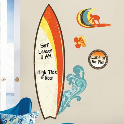 Room Mates Surfs Up Dry Erase Giant Wall Decal