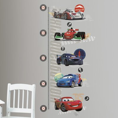 Room Mates Cars 2 Peel and Stick Metric Growth Chart Wall Decal