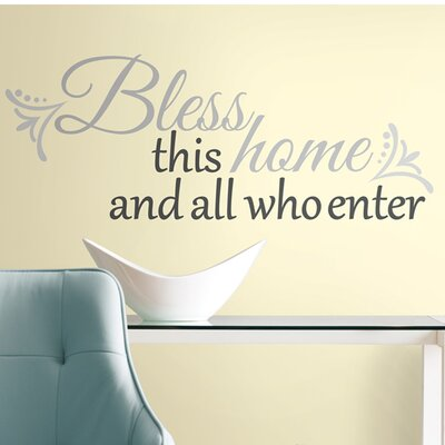 <strong>Room Mates</strong> Peel & Stick Bless this Home Wall Decal