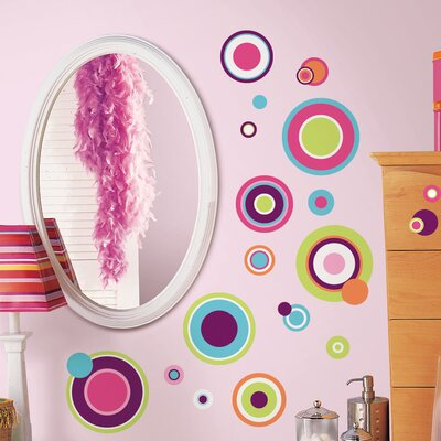 Room Mates 31 Piece Peel & Stick Wall Decals/Wall Stickers Crazy Dots Wall Decal Set
