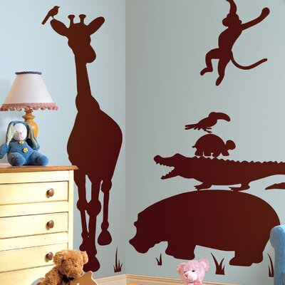 Room Mates Studio Designs Animal Silhouettes Giant Wall Decal Set