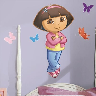 Room Mates Favorite Characters 9 Piece Nickelodeon Dora The Explorer Giant Wall Decal Set