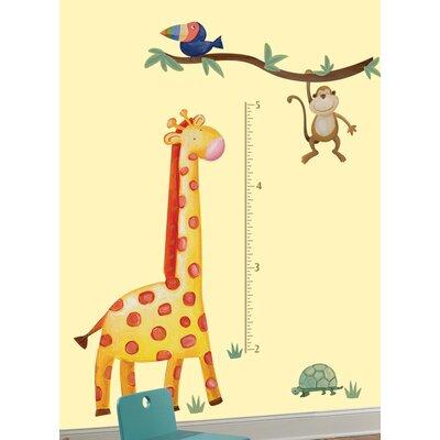 Room Mates Peel and Stick Jungle Adventure Giraffe Growth Chart
