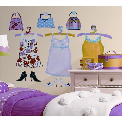 Room Mates Dress Up MegaPack Peel and Stick Wall Decal