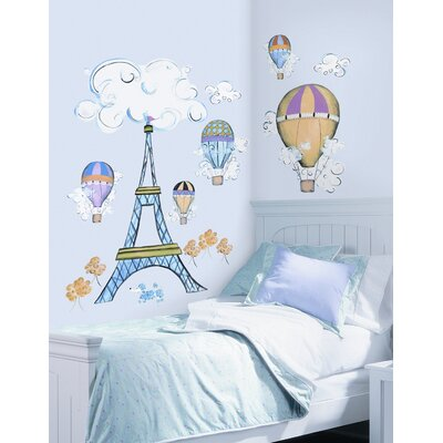 Room Mates Oh La La MegaPack Peel and Stick Wall Decal