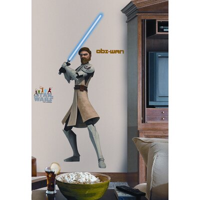 Room Mates The Clone Wars Giant Obi-Wan Peel and Stick Wall Decal
