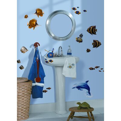Room Mates 24-Piece Under the Sea Peel and Stick Wall Sticker