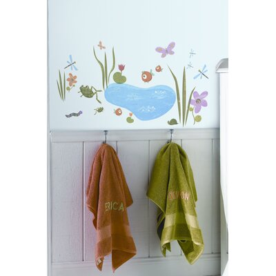 Room Mates Hoppy Pond Peel and Stick Wall Sticker