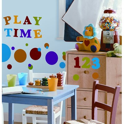 Room Mates Colorful Numbers Primary Peel and Stick Wall Sticker
