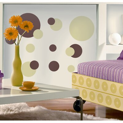 Room Mates Just Dots Peel and Stick Wall Sticker in Green and Brown
