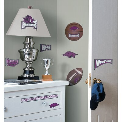 Room Mates Arkansas Razorbacks Peel and Stick Wall Decal