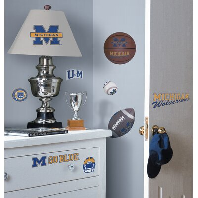 Room Mates Michigan Wolverines Peel and Stick Wall Decal