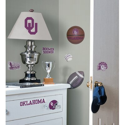 Room Mates Oklahoma Sooners Peel and Stick Wall Decal