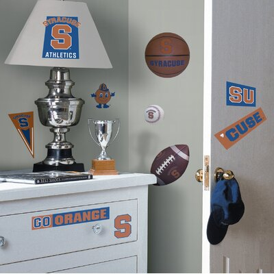 Room Mates Syracuse Orange Peel and Stick Wall Decal