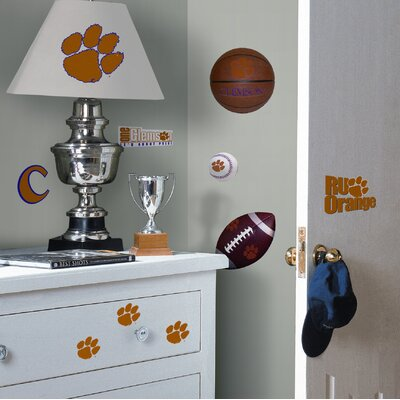 Room Mates Clemson Tigers Peel and Stick Wall Decal