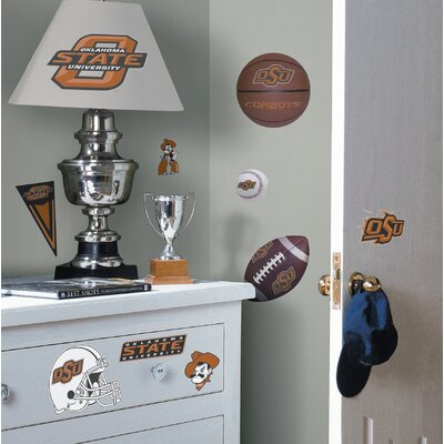 Room Mates Oklahoma State Peel and Stick Wall Decal