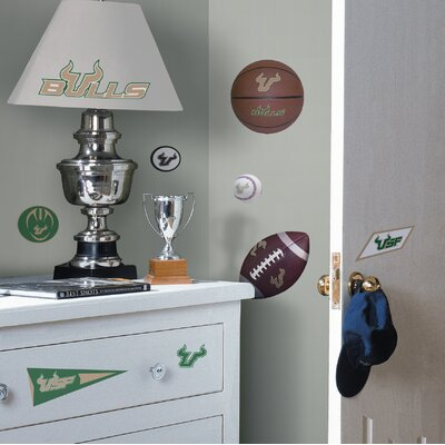 Room Mates University of South Florida Bulls Peel and Stick Wall Decal