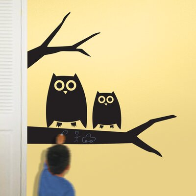 Room Mates Hootie Chalkboard Peel and Stick Wall Decal