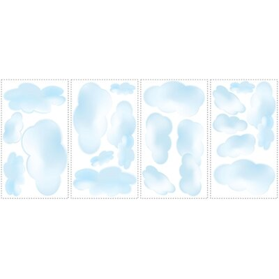 Room Mates Clouds Peel and Stick Wall Sticker