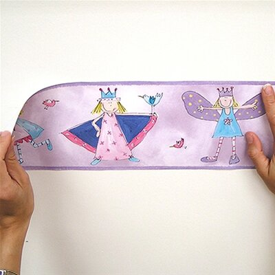 Room Mates Studio Designs Fairy Princess Peel and Stick Wallpaper Border