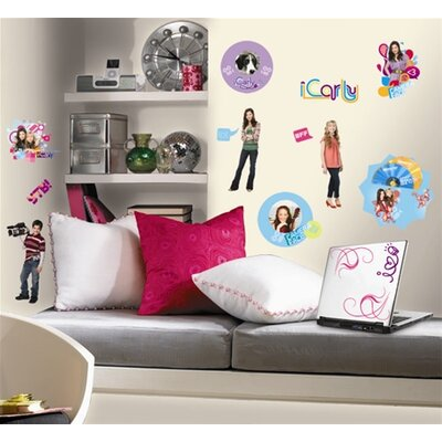 Room Mates Favorite Characters 24 Piece Nickelodeon iCarly Wall Decal Set