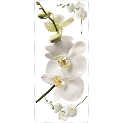 Room Mates White Orchid Peel and Stick Wall Decal