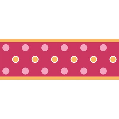 Room Mates Studio Designs Dot Wall Border in Raspberry