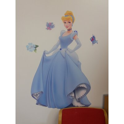 Room Mates Licensed Designs 37 Piece Cinderella Giant Wall Decal Set