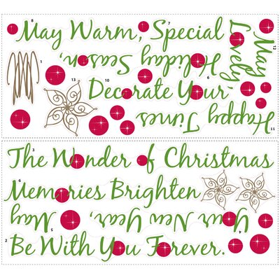 Room Mates Seasonal Christmas Tree Quote Giant Wall Decal