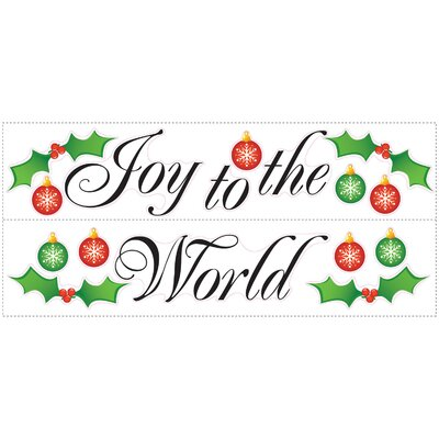 Room Mates Seasonal Joy to the World Peel and Stick Wall Decal